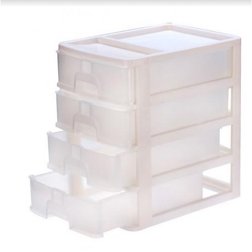 Мини-комод органайзер 4ярусный R-plastic Белый