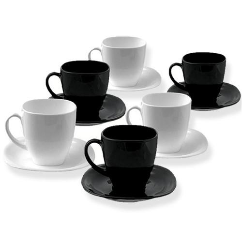 Чайный сервиз Luminarc Carine black&white