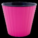 Квітковий горщик Алеана Ібіс 18 Рожевий з чорною вставкою