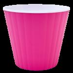 Квітковий горщик Алеана Ібіс 13 Рожевий з білою вставкою