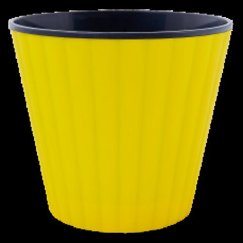 Квітковий вазон Алеана Ібіс 17 Жовтий-чорний