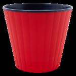 Квітковий горщик Алеана Ібіс 16 Червоний з чорною вставкою