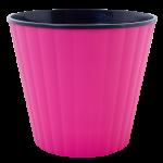 Квітковий горщик Алеана Ібіс 16 Рожевий з чорною вставкою