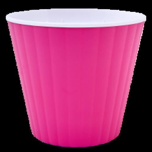 Квітковий горщик Алеана Ібіс 18 Рожевий з білою вставкою