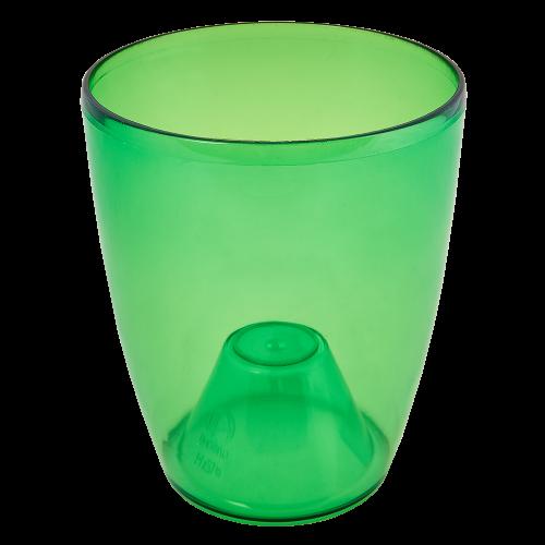 Квітковий горщик Алеана Орхідея 14 Зелений прозорий