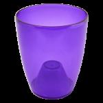 Квітковий горщик Алеана Орхідея 14 Фіолетовий прозорий