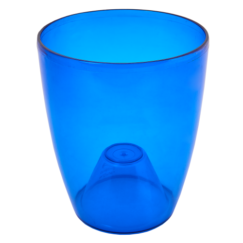 Квітковий горщик Алеана Орхідея 17 Синій прозорий
