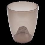 Квітковий горщик Алеана Орхідея 18 Коричневий прозорий