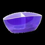 Квітковий горщик Алеана Орхідея Фіолетовий прозорий