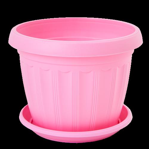 Квітковий горщик Алеана Терра 10 Рожевий