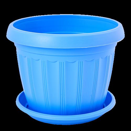Квітковий горщик Алеана Терра 8 Блакитний