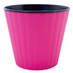 Квітковий горщик Алеана Ібіс 13 Рожевий з чорною вставкою