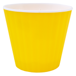 Квітковий горщик Алеана Ібіс 13 Жовтий з білою вставкою