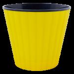 Квітковий горщик Алеана Ібіс 13 Жовтий з чорною вставкою
