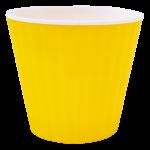 Квітковий горщик Алеана Ібіс 16 Жовтий з білою вставкою