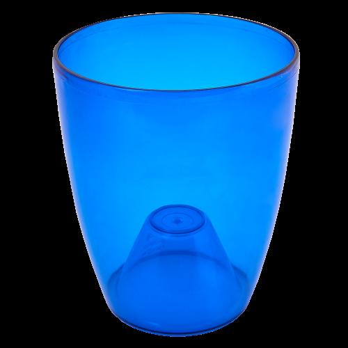 Квітковий горщик Алеана Орхідея 14 Синій прозорий