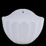 Квітковий горщик настінний Алеана Марго 25 Білий