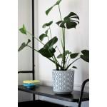 Квітковий горщик Lamela Ацтек 250 Світло-сірий з білою вставкою