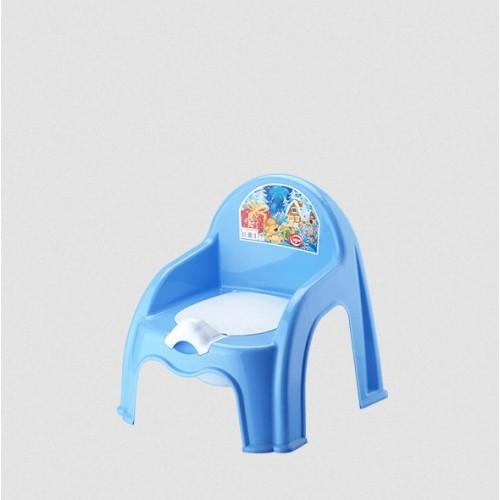 Детский горшок со спинкой Elif 313-4 Голубой