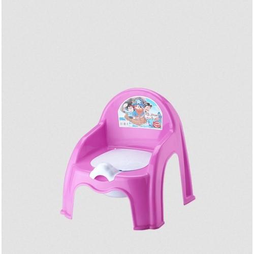 Детский горшок со спинкой Elif 313-8 Фиолетовый