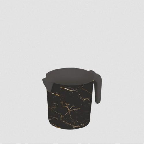 Ківш Elif Чорний мармур 337-23