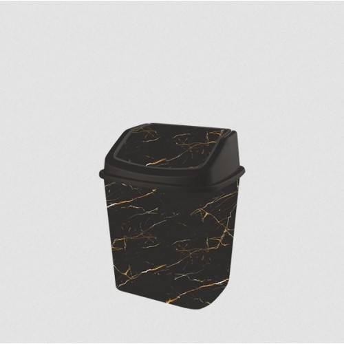 Відро для сміття Elif Чорний мармур 341-24