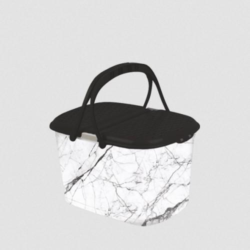 Корзина для пикника Elif Белый мрамор 355-24
