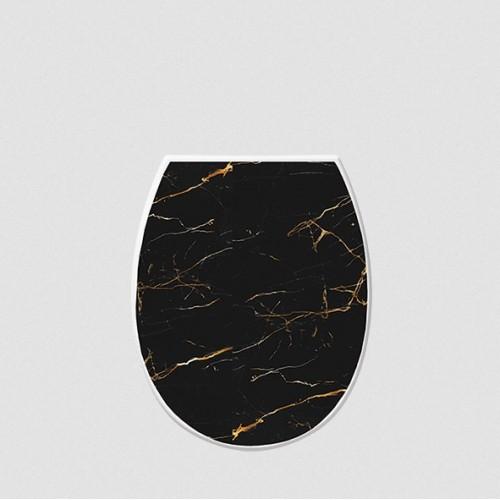 Крышка для унитаза Elif Черный мрамор 372-23