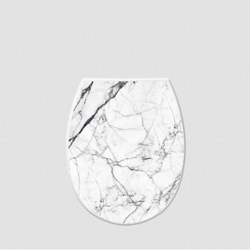 Крышка для унитаза Elif Белый мрамор 372-24