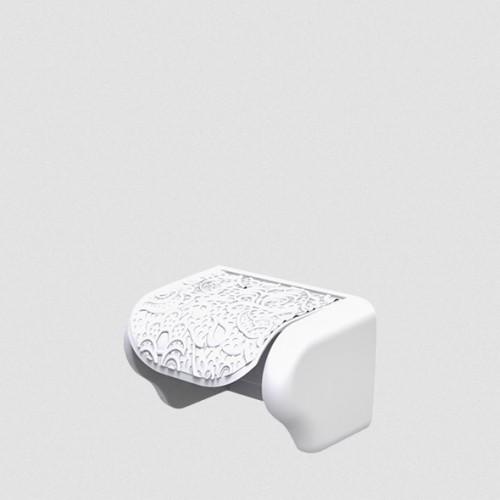 Держатель для туалетной бумаги Elif Ажур 376-1 Белый