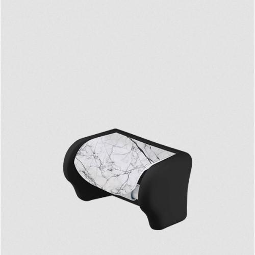 Держатель для туалетной бумаги Elif Белый мрамор 386-24