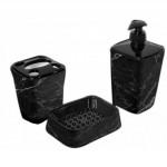 Набір аксесуарів для ванної Elif Чорний мармур 392-23