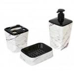 Набор аксессуаров для ванной Elif Белый мрамор 392-24