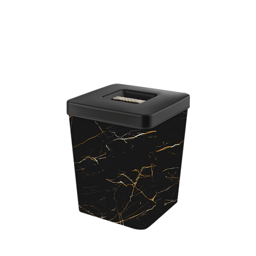 Контейнер для хранения Elif Черный мрамор 502-23