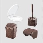 Набор для ванной Elif Ажур 523-5 Коричневый