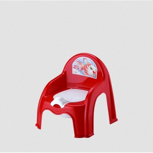 Детский горшок со спинкой Elif 313-1 Красный