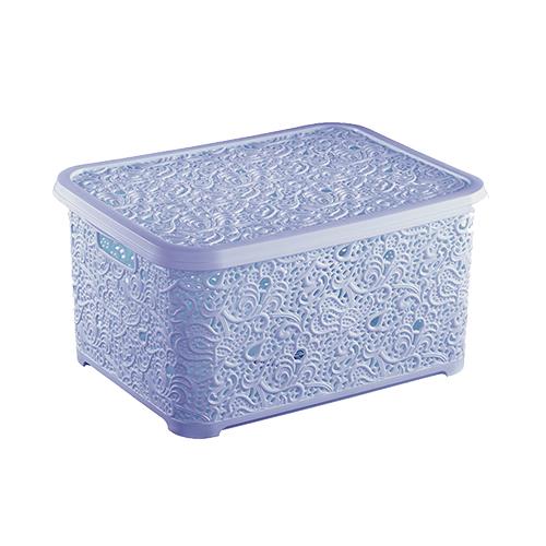 Корзина для хранения Elif Ажур 374-7 Голубой