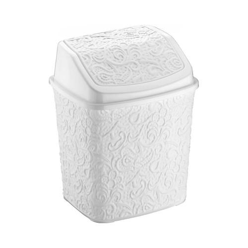 Відерце для сміття Elif Ажур 384-1 Білий
