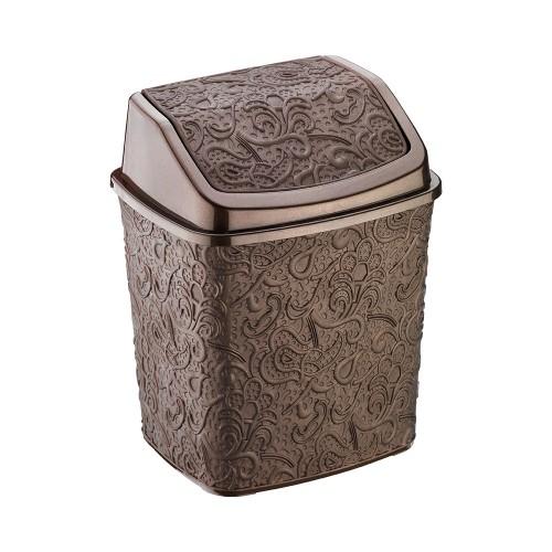 Ведерко для мусора Elif Ажур 384-5 Коричневый
