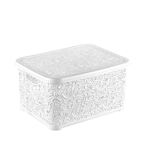 Корзина для хранения Ажур Elif 324-1 Белый