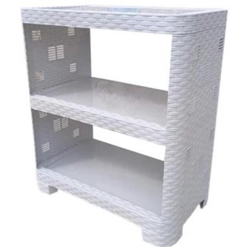 Етажерка Plasticscraft Ротанг 3 полиці Білий