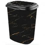 Кошик для білизни Elif Чорний мармур