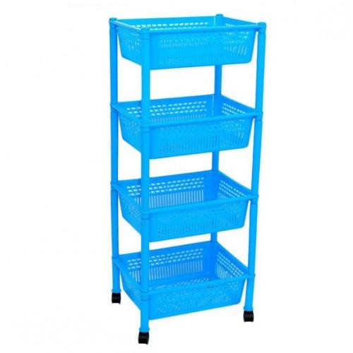 Етажерка прямокутна Консенсус K4-4 Блакитний