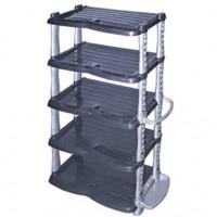 Пластикова меблі: пластмасові етажерки, полиці для взуття, пластикові комоди