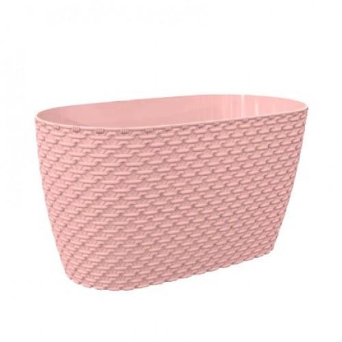 Квітковий горщик балконний Elif Knit 449 Рожевий