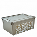 Контейнер Алеана Smart box с декором Home 7,9 л Какао-Белая роза
