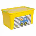 Контейнер Алеана Smart box с декором My car 27 л Жёлтый-Жёлтый