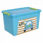 Контейнер Алеана Smart box з декором My car 3,5 л Бірюзовий-Бірюзовий
