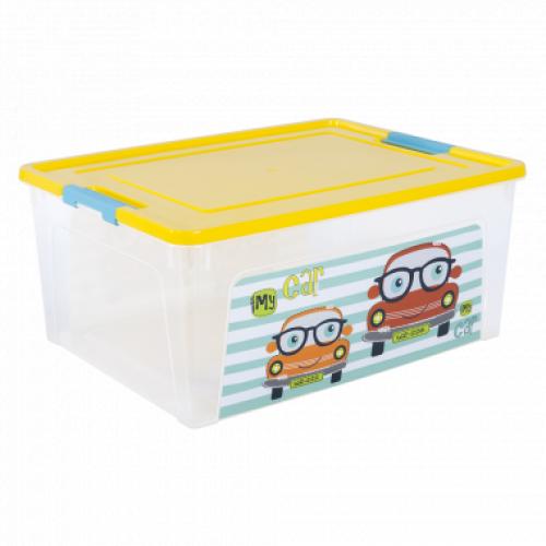 Контейнер Алеана Smart box з декором My car 7,9 л Прозорий-Жовтий