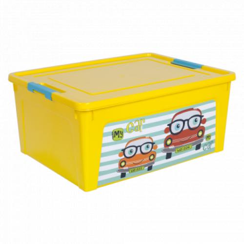 Контейнер Алеана Smart box з декором My car 7,9 л Жовтий-Жовтий